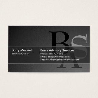 Simple noir moderne élégant professionnel carte de visite standard