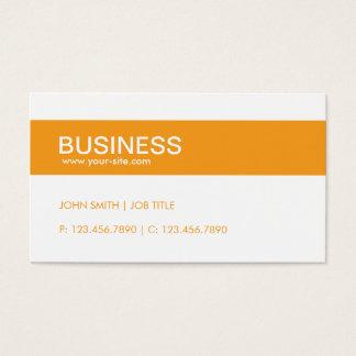 Simple simple chic élégant moderne orange cartes de visite