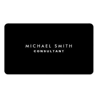 Simple simple moderne élégant professionnel noir carte de visite standard