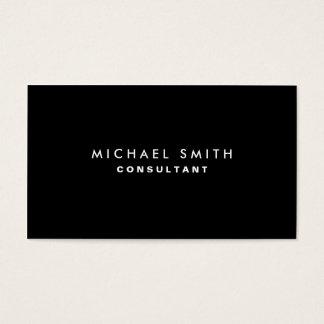Simple simple moderne élégant professionnel noir cartes de visite