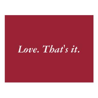 Simplement amour cartes postales