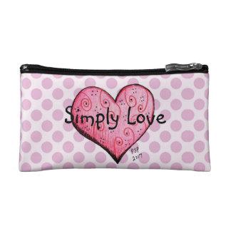 Simplement amour peu de sac rose de cosmétique de