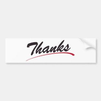 """Simplement """"mercis """" autocollant de voiture"""