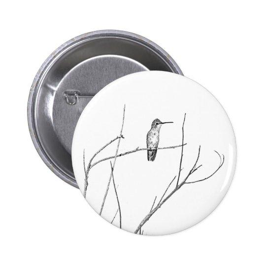 Simplement un colibri sur un bâton badge rond 5 cm