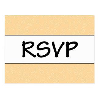 Sinaasappel RSVP Briefkaart