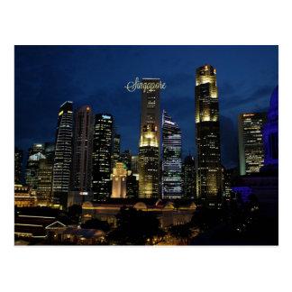 Singapour du centre carte postale
