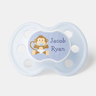 Singe personnalisé de bébé dans la tétine de