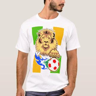 Singulet d'Irlandais ou de lion du football de T-shirt