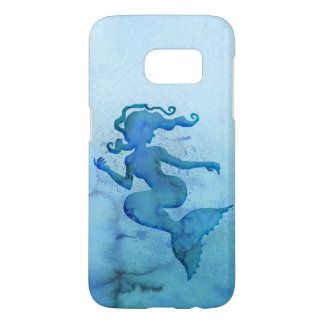Sirène bleue d'aquarelle coque samsung galaxy s7