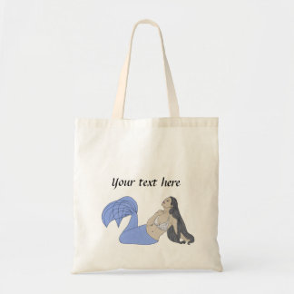 Sirène bleue tote bag
