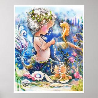Sirène de bébé et une ficelle des perles