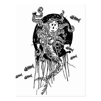 Sirène de Halloween Carte Postale