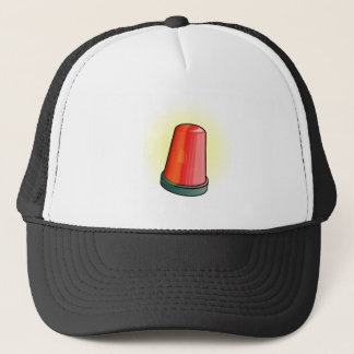 Sirène de lumière rouge casquette