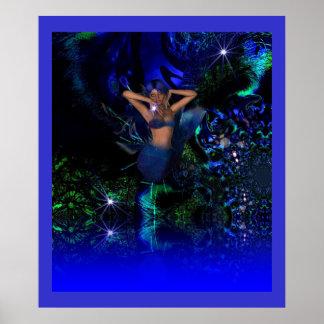 Sirène d'étoile d'art d'imaginaire d'affiche