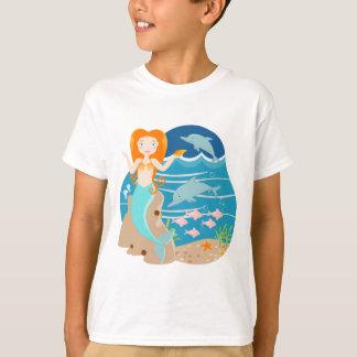Sirène et fête d'anniversaire de dauphins t-shirt