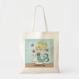 Sirène mignonne sac en toile budget