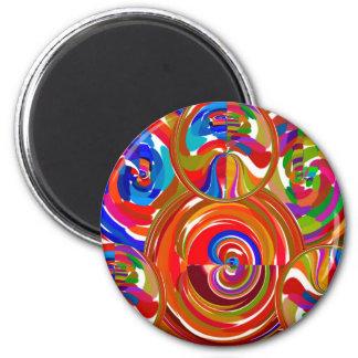 Six cercles de sigma - la thérapie de couleur de magnet rond 8 cm