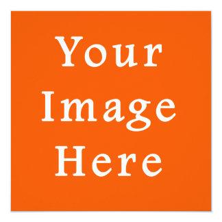 Sjabloon van de Oranje Tendens van de Kleur van 13,3x13,3 Vierkante Uitnodiging Kaart