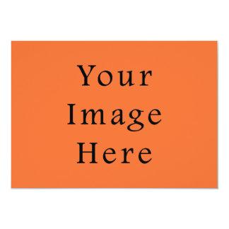 Sjabloon van de Oranje Tendens van de Kleur van de 12,7x17,8 Uitnodiging Kaart
