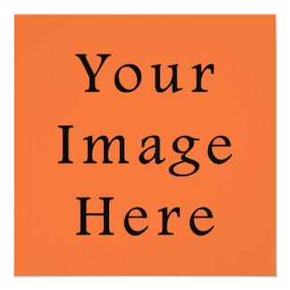 Sjabloon van de Oranje Tendens van de Kleur van de 13,3x13,3 Vierkante Uitnodiging Kaart