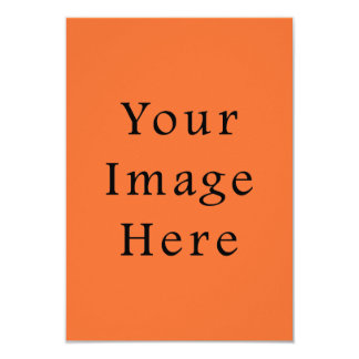 Sjabloon van de Oranje Tendens van de Kleur van de 8,9x12,7 Uitnodiging Kaart