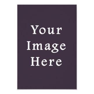 Sjabloon van de Paarse Tendens van de Kleur van de 8,9x12,7 Uitnodiging Kaart