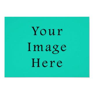 Sjabloon van de Tendens van de Kleur Aqua van 12,7x17,8 Uitnodiging Kaart