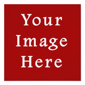 Sjabloon van de Tendens van de Kleur van Kerstmis 13,3x13,3 Vierkante Uitnodiging Kaart