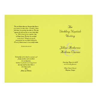 Sjabloon van het Programma van het Huwelijk van Flyer