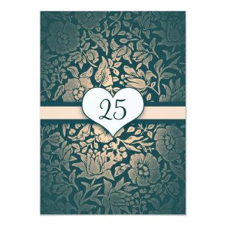 sjofele de wijnoogst van de huwelijksverjaardag 12,7x17,8 uitnodiging kaart