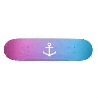 Skateboard 19,7 Cm Gradient nautique Girly d'ancre