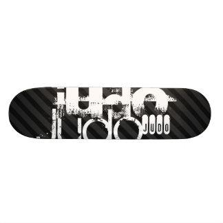 Skateboard 19,7 Cm Judo ; Rayures noires et gris-foncé