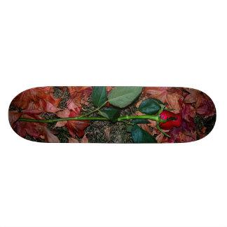 Skateboard 19,7 Cm Plate-forme de planche à roulettes de rose rouge