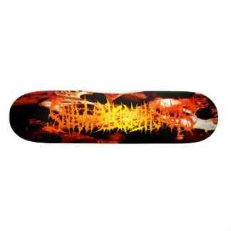 Skateboard 19,7 Cm Restes abattus - crânes et planche à roulettes de