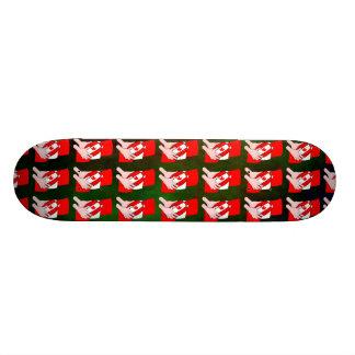 Skateboard 20,6 Cm Boule de rugby de feuille d'érable de drapeau du