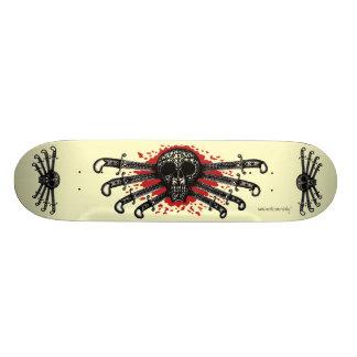 Skateboard 20,6 Cm Crâne tribal et planche à roulettes de l'industrie