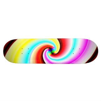 Skateboard 20,6 Cm Demi de planche à roulettes de tuyau de fractale