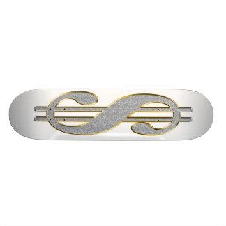 Skateboard 20,6 Cm Planche à roulettes de symbole dollar