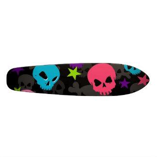 Skateboard 20,6 Cm planche à roulettes rose et bleue de crâne