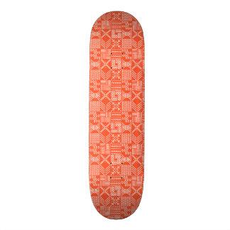 Skateboard 20,6 Cm Planche à roulettes tribale de Geo dans l'orange