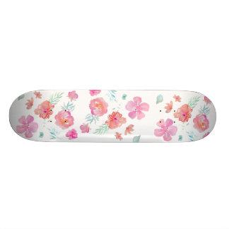 Skateboard 20 Cm Le rose fleurit le ¾ frais romantique de
