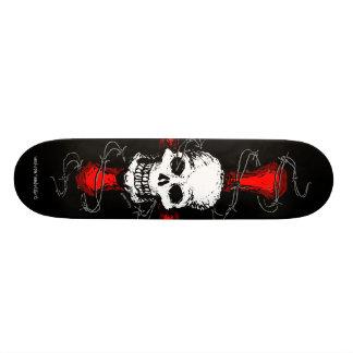 Skateboard 20 Cm Planche à roulettes de crâne et de barbelé