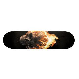 Skateboard 20 Cm Planche à roulettes flamboyante de crâne