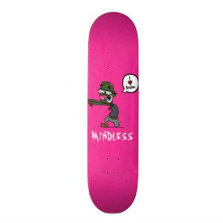 Skateboard 20 Cm Plate-forme rose insensée de zombi