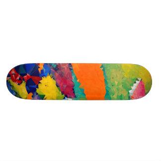 Skateboard 21,6 Cm Bas poly rouge et le bleu fait de la planche à