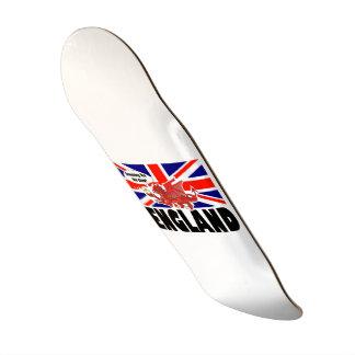 Skateboard 21,6 Cm Dragon rouge de l'Angleterre dans le temps de thé