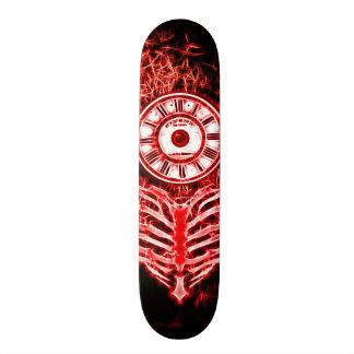 Skateboard 21,6 Cm Fractale d'amour d'horloge de la mort