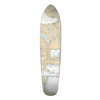 Skateboard 21,6 Cm Peu plate-forme nautique de patin de baie