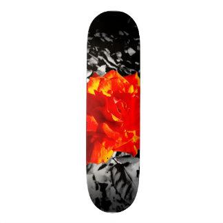 Skateboard 21,6 Cm Planche à roulettes de rose rouge