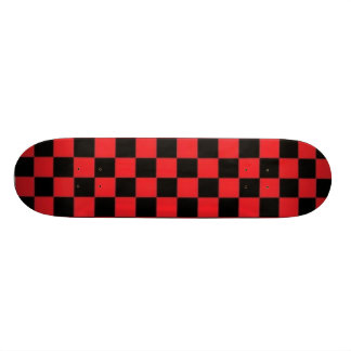 Skateboard 21,6 Cm Planche à roulettes rouge et noire de Checkerd